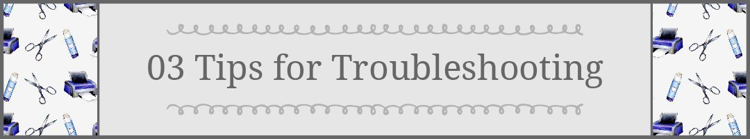 #3 Tips for Printing Printaples: Troubleshooting Home Printers #howto #printables | countryhillcottage.com
