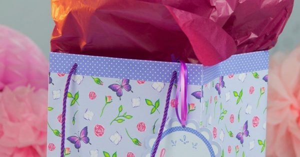 graphic regarding Printable Gift Bags titled Craft a Do it yourself Present Bag (No cost Printable)