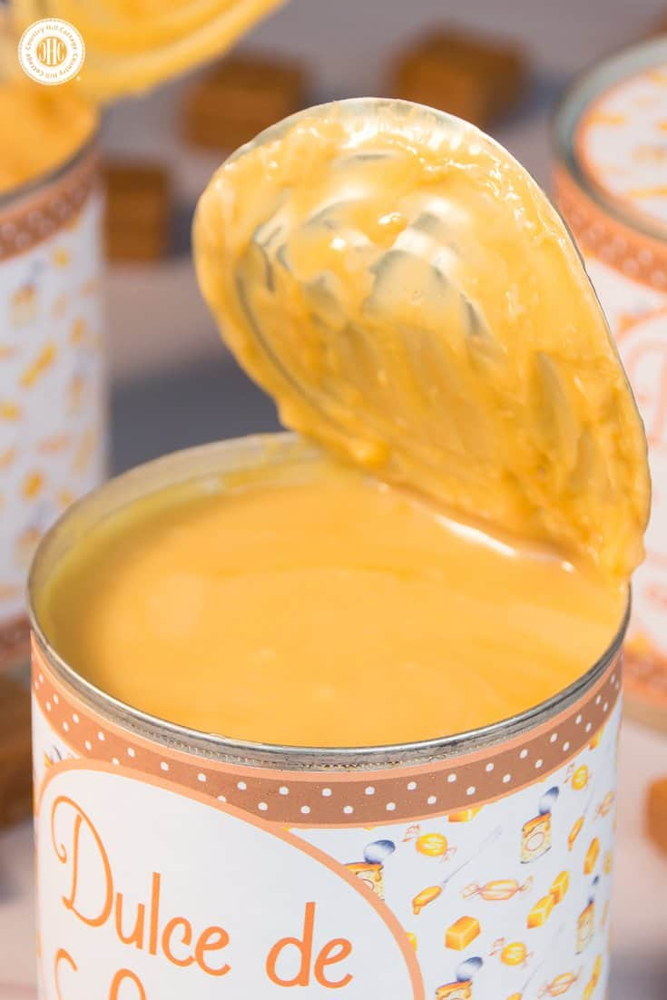 Learn how to make homemade Dulce de Leche and get free printable labels | countryhillcottage.com