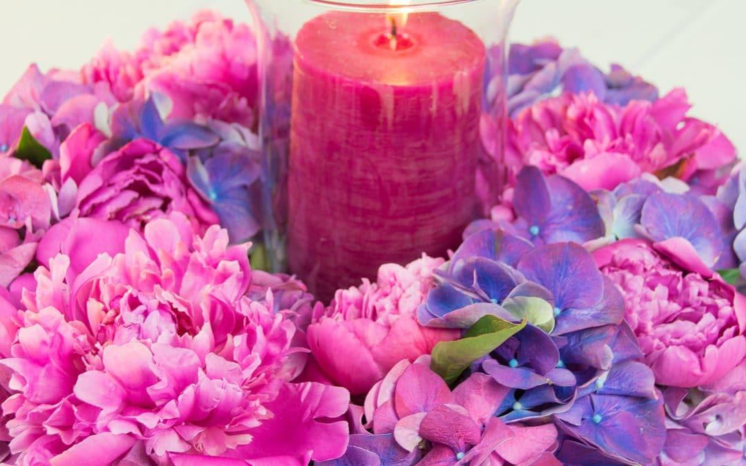 A Romantic Peony Hydrangea Wreath
