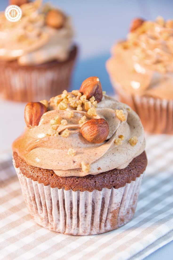 Chocolate Cupcakes with Homemade Nutella Frosting | countryhillcottage.com