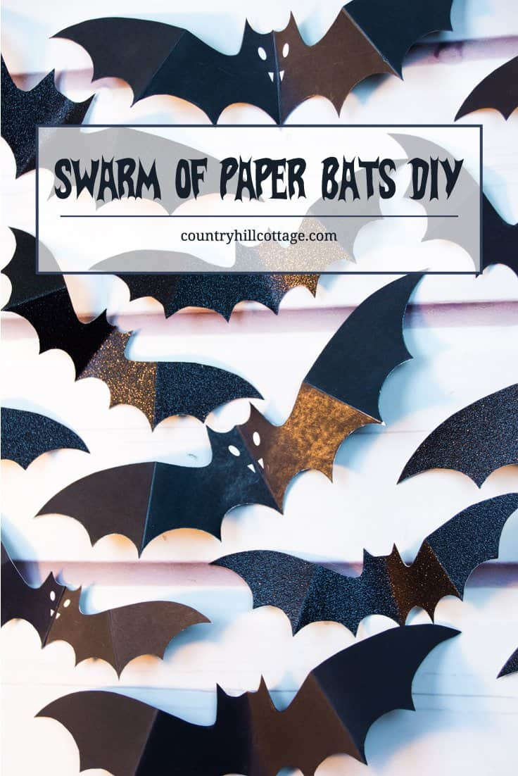Swarm Of Paper Bats Wall Decoration