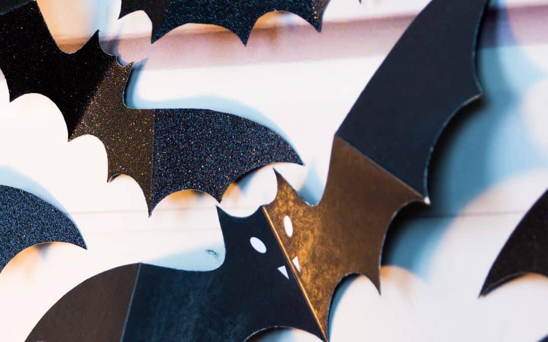 Swarm of Paper Bats Wall Decoration