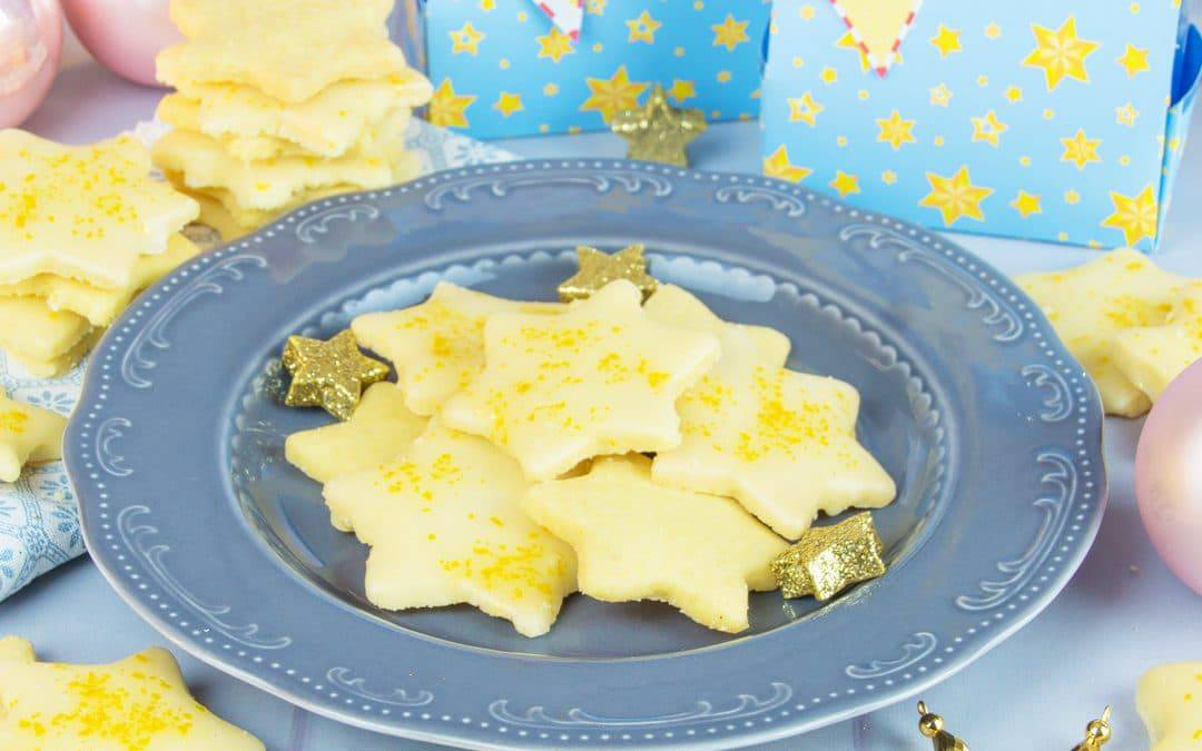 Lemon Shortbread Stars Recipe