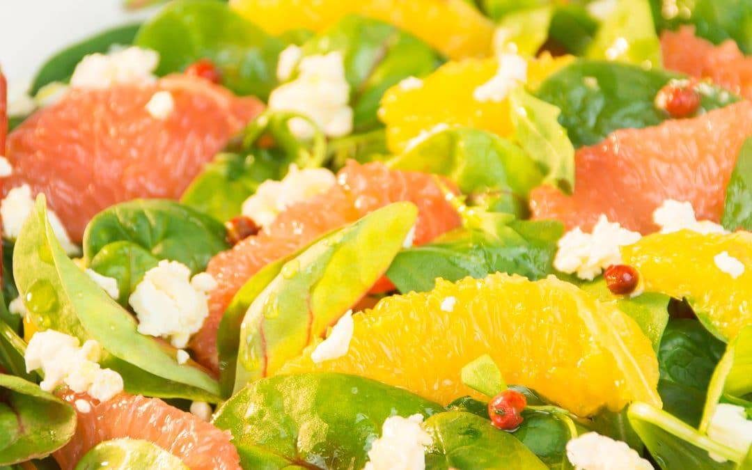 Orange Grapefruit Salad with Goat Cheese