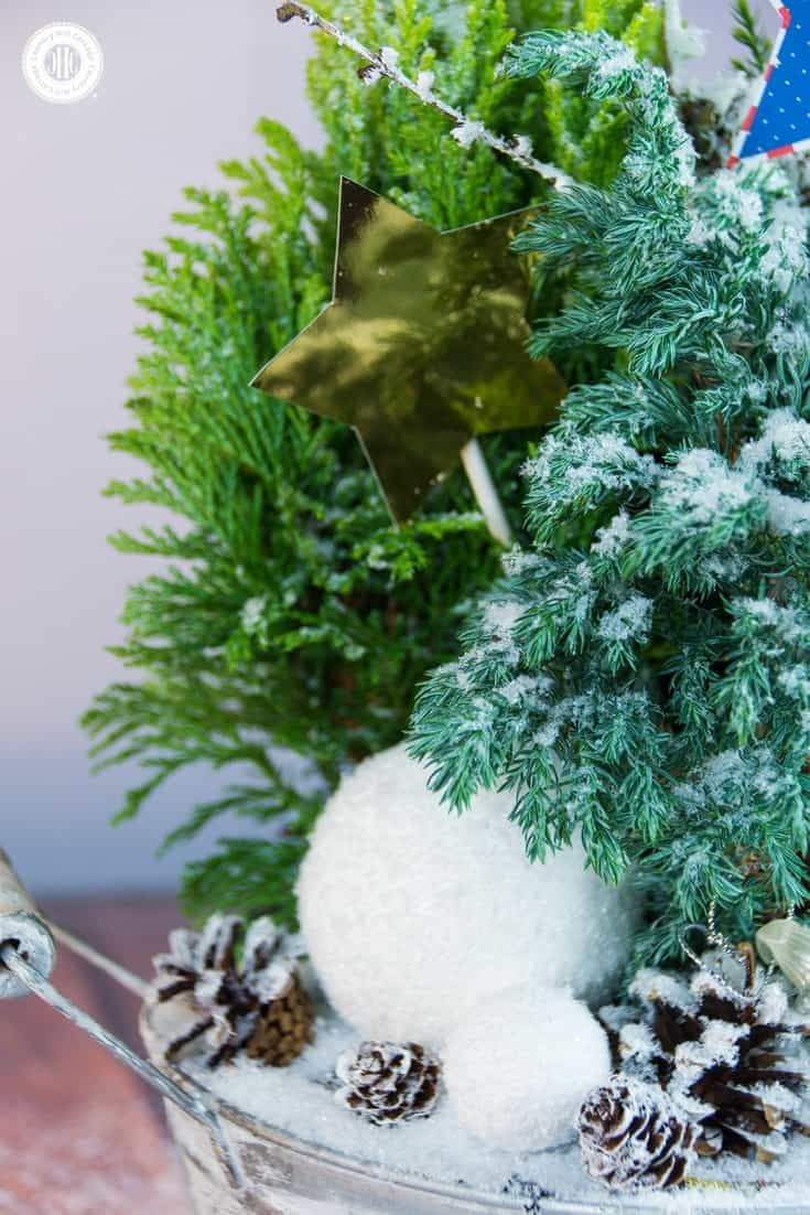 Sparkly Winter Fairy Garden Country Hill Cottage