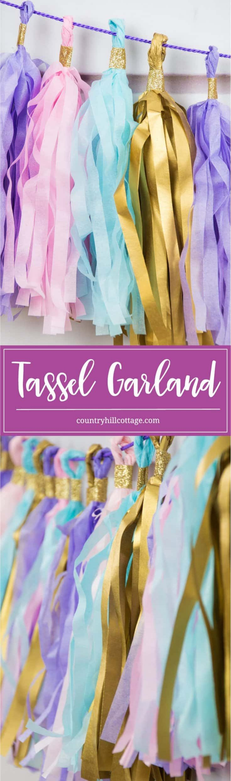 Tassel Garland Pretty Paper Decoration For Party And Weddings