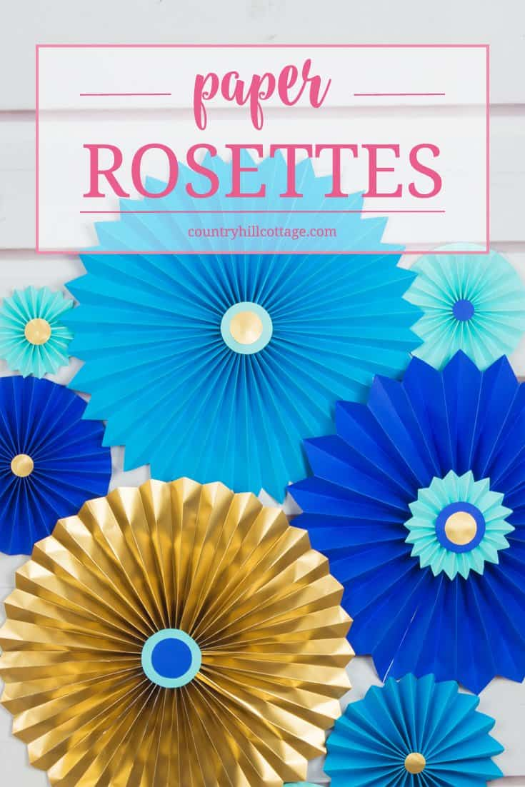 Paper Rosettes Quick And Easy Paper Craft Diy