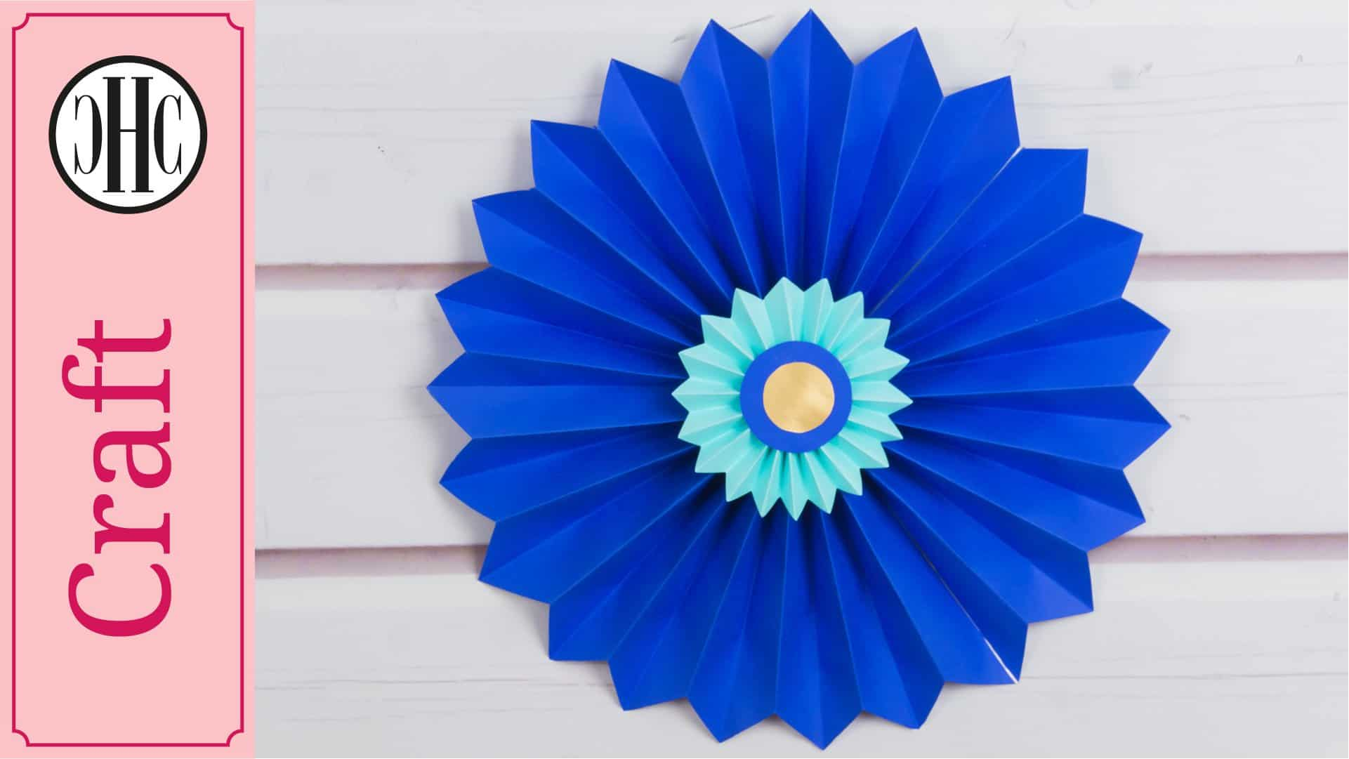 Paper rosettes quick and easy paper craft diy country hill cottage mightylinksfo