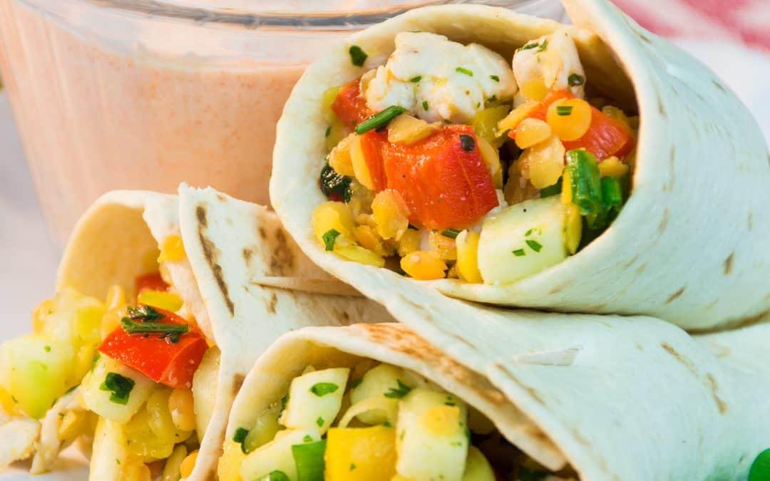 Chicken Lentil Tortilla Wraps – Tasty Party Snack