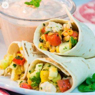 Chicken Lentil Tortilla Wraps –TastyParty Snacks
