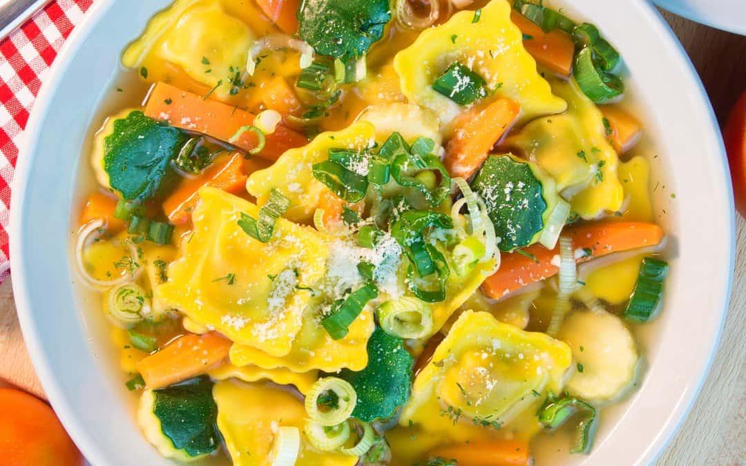 Ravioli Soup with Vegetables