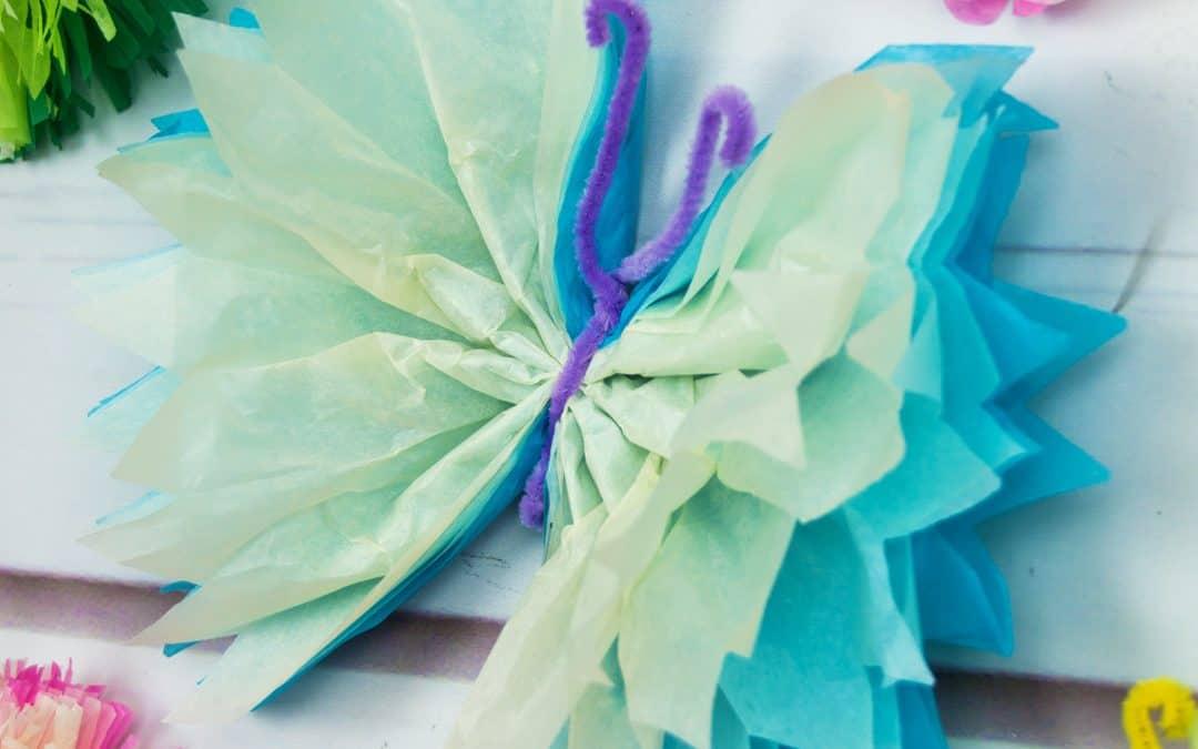Tissue Paper Butterflies – Fun Paper Craft DIY