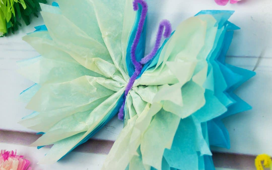 Tissue Paper Butterflies – Fun Paper Craft DIY