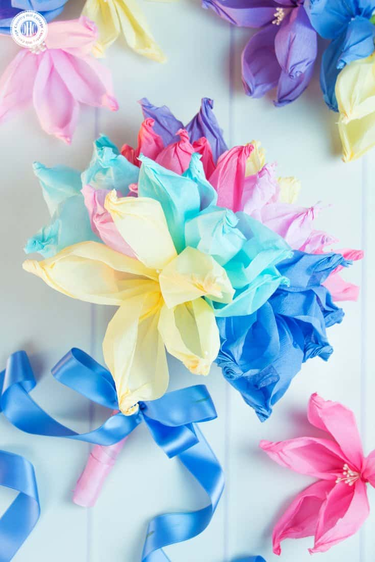Crepe Paper Flowers The Easiest Paper Flowers Country Hill Cottage