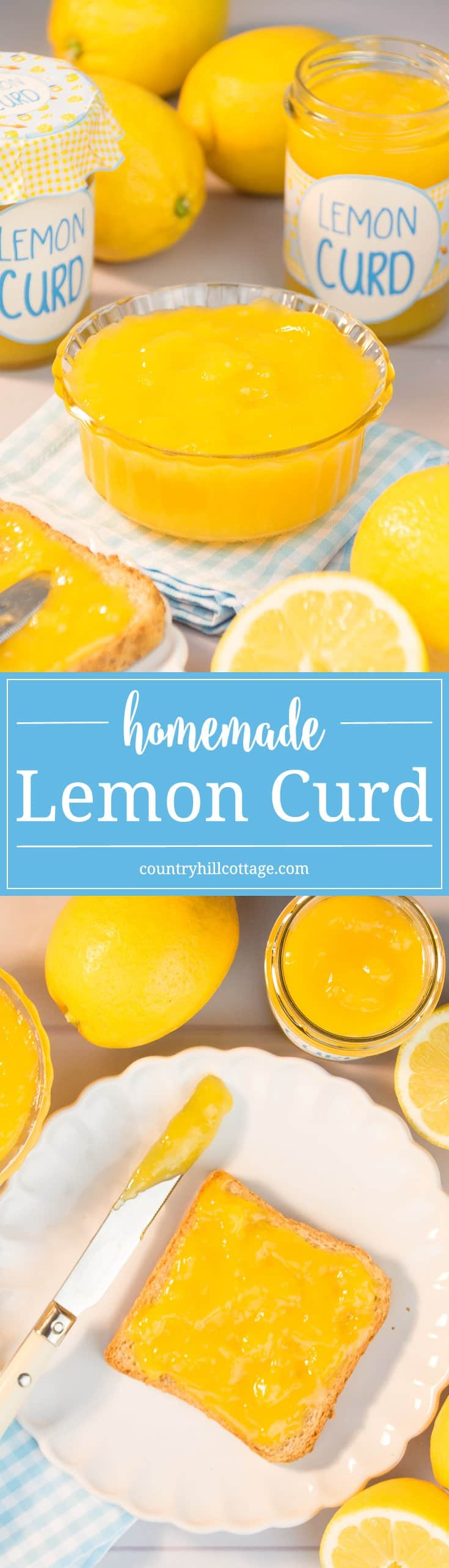 We love homemade lemon curd on warm toast or as a filling for cakes. Learn to make it yourself with our easy tutorial! #yummy #lemoncurd | countryhillcottage.com