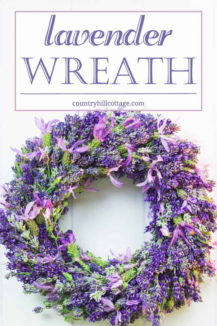 Add summer cheer to your front door and learn how to make a lush and fragrant lavender wreath. This wreath dries beautifully and lasts for months to come. We also share helpful tips for choosing the right type of lavender. | countryhillcottage.com