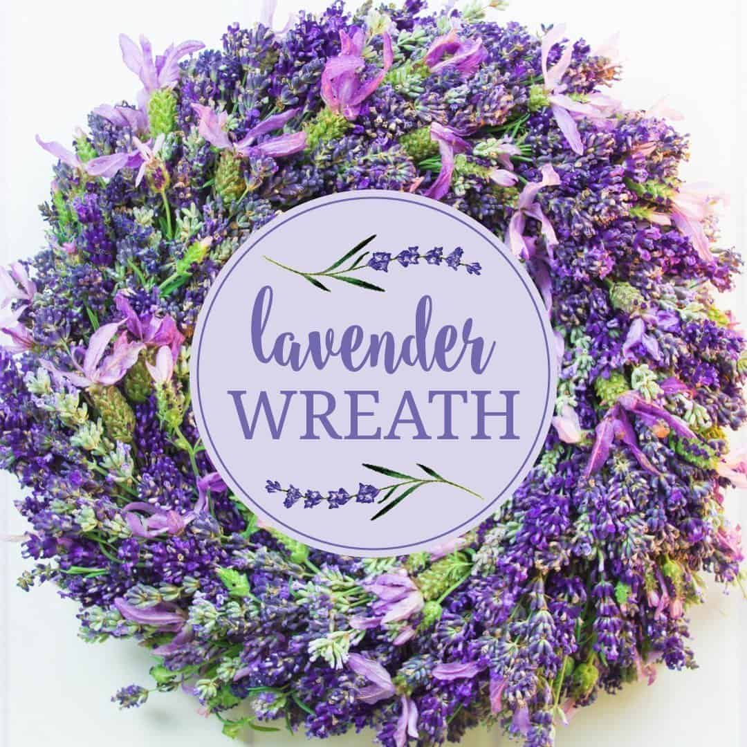 lavender wreath country hill cottage CD Printing Printers Printer Printing Blank Pages