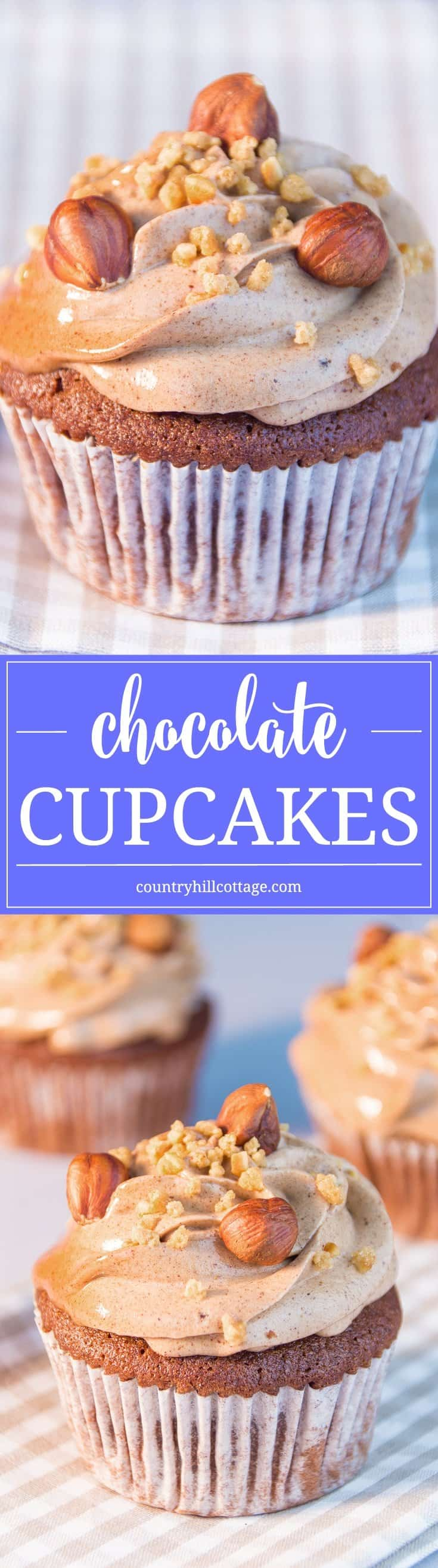 Every baker needs a true-and-tested chocolate cupcakes recipe in her repertoire. Our version is light, albeit chocolaty, quick to whip up and uses only pantry staples. It's perfect to satisfy the occasional midnight chocolate cravings or to cater for a bunch of hungry kids. #chocolate #cupcake #recipe | countryhillcottage.com