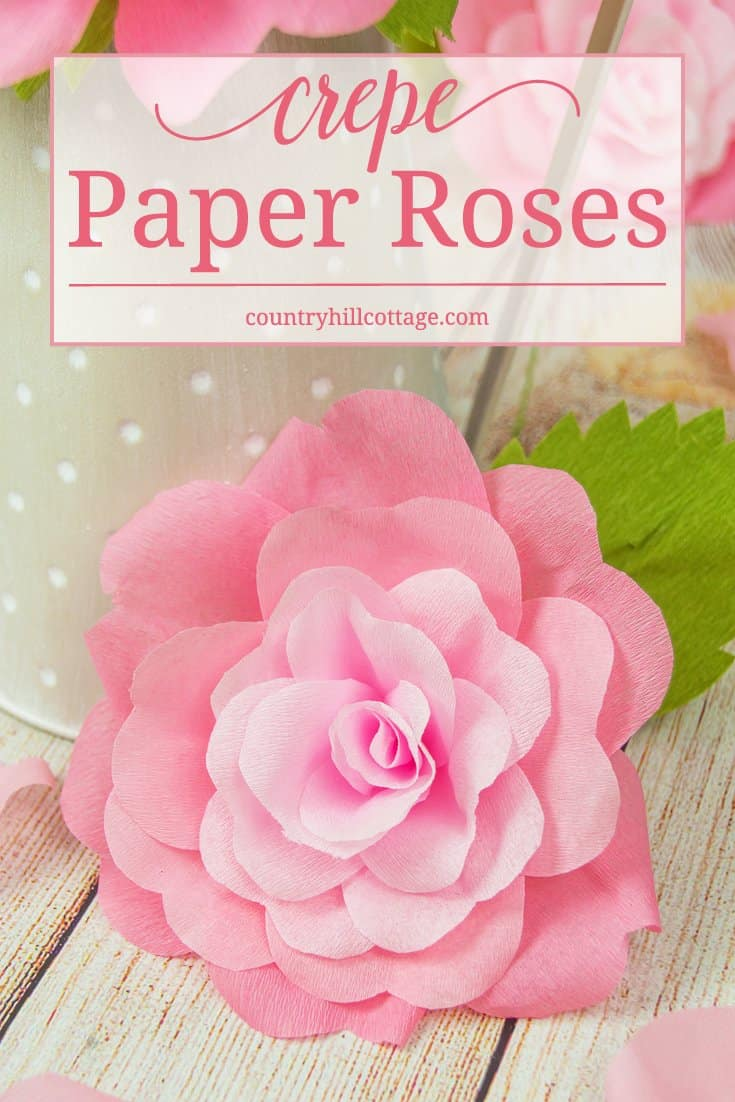 Learn How To Make Crepe Paper Roses These Handcrafted Beauties Are Very Long Lasting