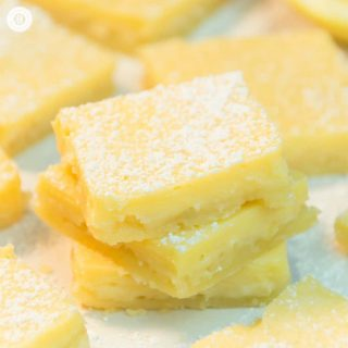 Creamy Lemon Squares and Printable Treat Boxes