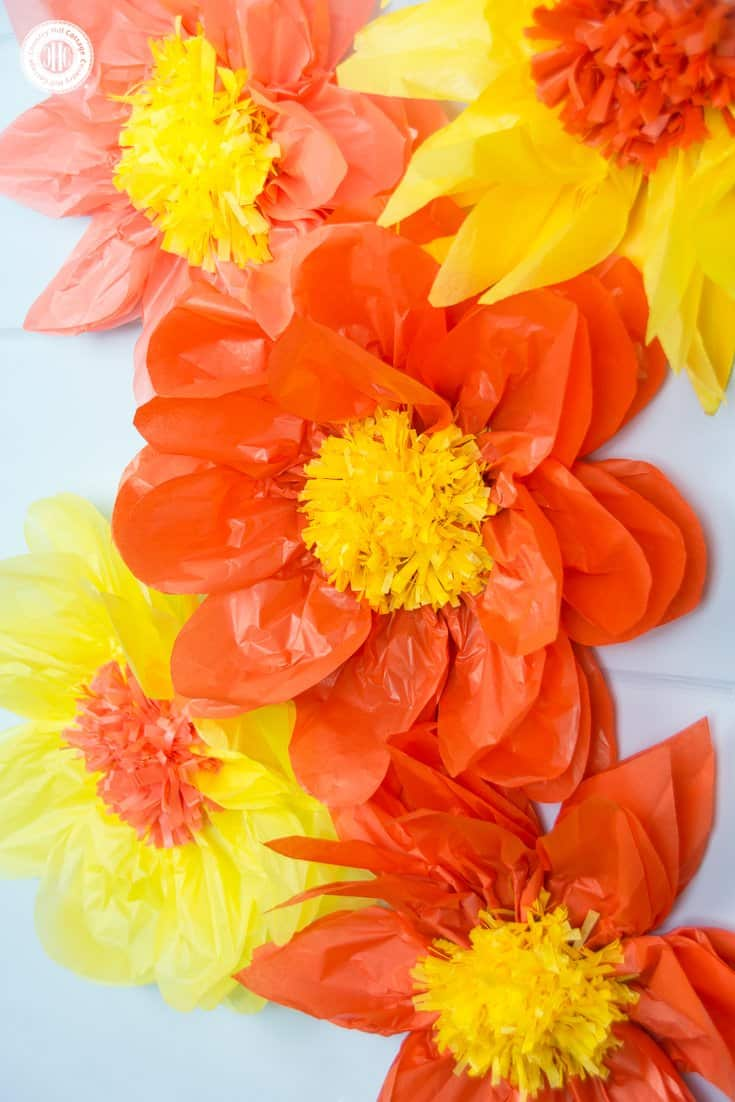 Giant Tissue Paper Flowers Easy Paper Craft Diy