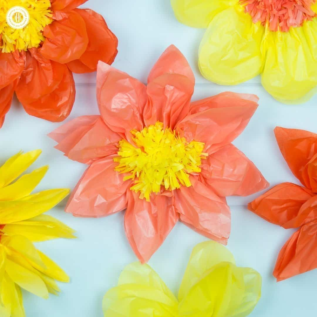 giant tissue paper flowers - easy paper craft diy | country hill cottage