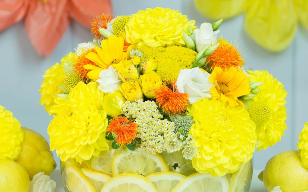Yellow Centrepiece with Lemons