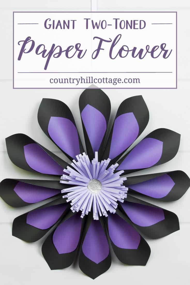Two Toned Paper Flowers Amp Free Printable Template