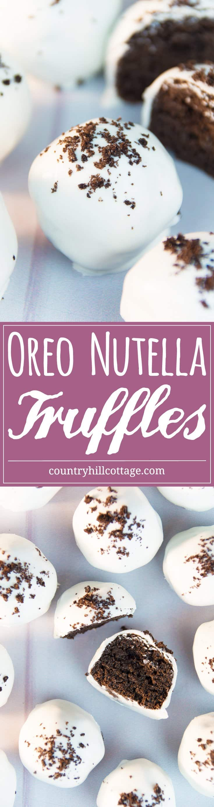 Learn to make no-bake Oreo Nutella bat bites with only 3 ingredients! #nobake #oreobites #Halloween | countryhillcottage.com