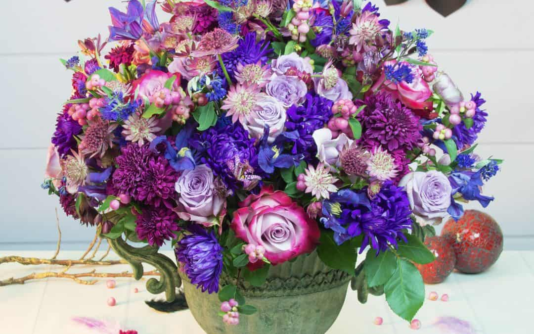 Purple Autumn Flower Arrangement