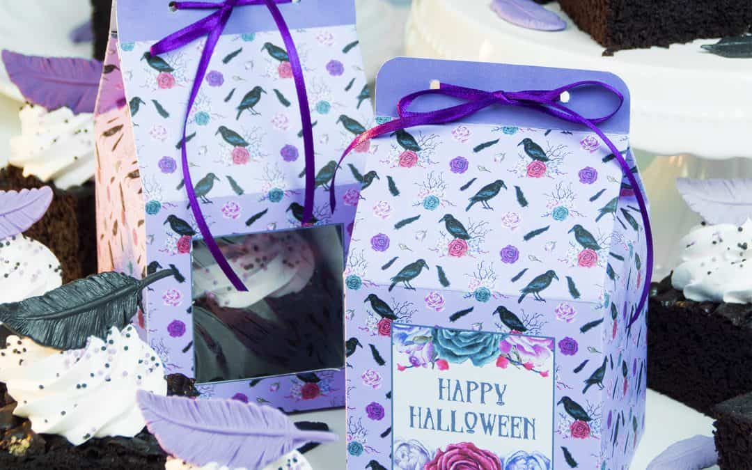 Halloween Cake Boxes | Free Printable