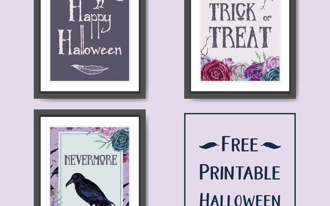 Printable Halloween Wall Art