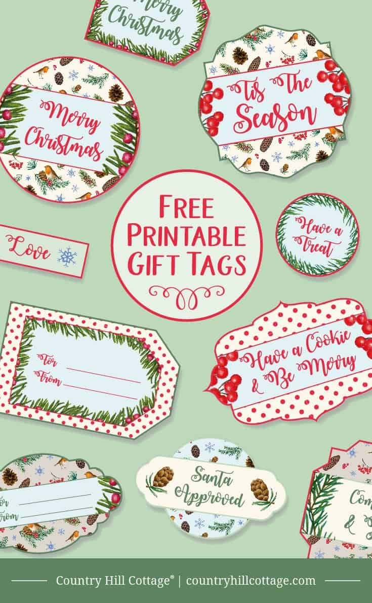 picture relating to Free Printable Gift Tags Christmas identify Printable Xmas Reward Tags