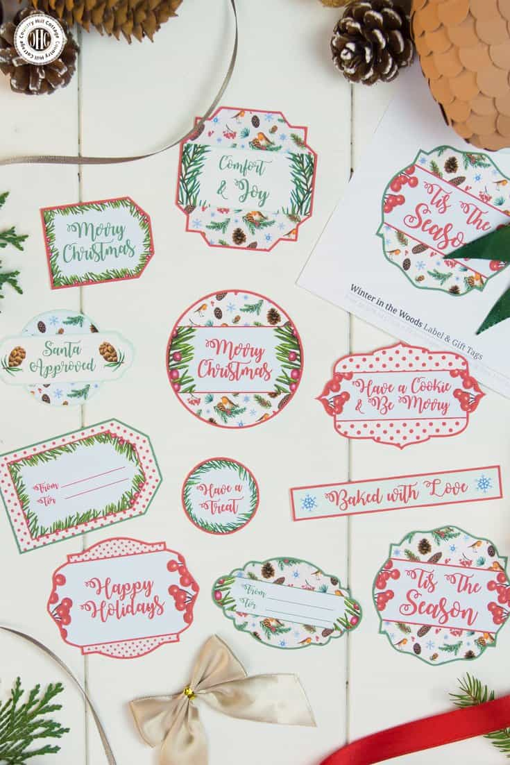 Printable christmas gift tags country hill cottage gift your food gifts in style with free printable christmas gift tags from our winter in negle Image collections
