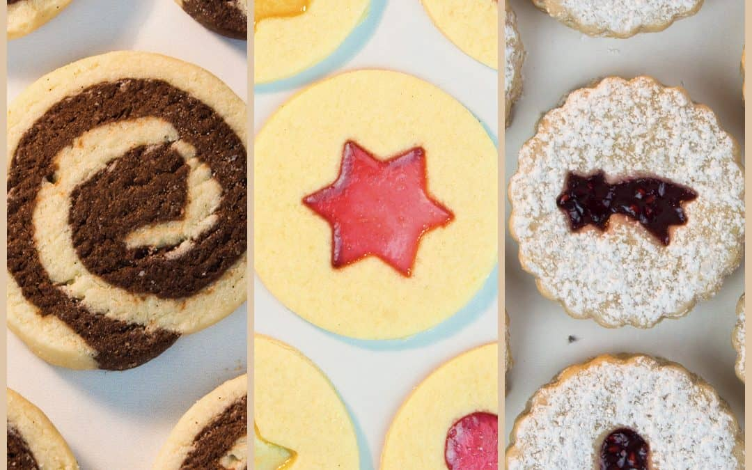 3 Christmas Cookies: Window Cookies, Jam-Filled Cookies, Swirl Cookies