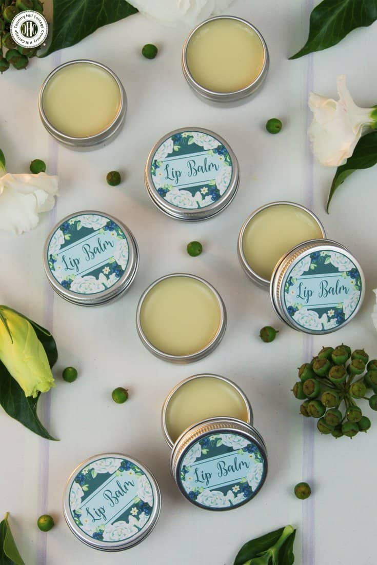 Say goodbye to dry lips with our all-natural 4-ingredient lip balm. The base for this beauty DIY is made with hydrating shea butter and coconut oil to leave lips feeling soft and supple. Bee wax creates a silky-smooth texture, helps to stabilise the balm, and further protects lips from drying out. You can customise the lip balm with essential oils, such as peppermint, lavender, vanilla, or grapefruit. #skincare #lipbalm #beautydiy | countryhillcottage.com