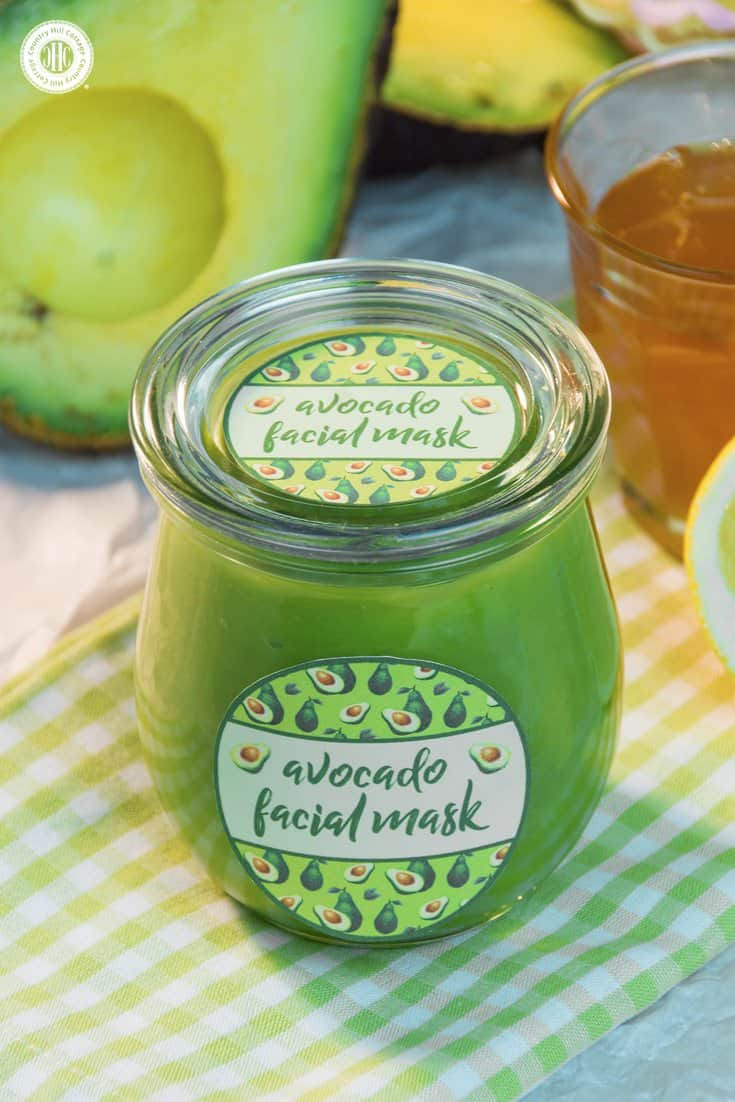 Revive your skin with a nourishing avocado facial mask! This facial mask is made with only 3 ingredients and will make your skin feeling nourished, replenished, and rested. Avocados are rich in vitamins E and B and have moisturising properties. Honey, especially raw and unpasteurised, is full of antioxidants, moisturises and helps to soothe irritations. Lemons are natural cleansers, and the vitamin C is said to protect your skin from the effects of ageing. #skincare #facialmask #avocado #beautydiy   countryhillcottage.com
