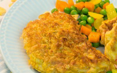 Cornflakes-Coated Turkey Chops