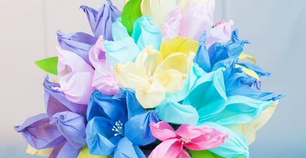 Crepe paper flowers the easiest paper flowers country hill cottage learn to make the easiest crepe paper flowers ever using only a gold ball and mightylinksfo