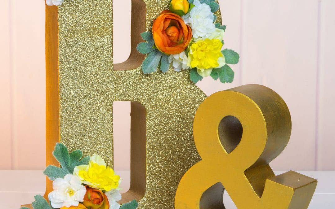 Glitter Wedding Letters | DIY Wedding Décor