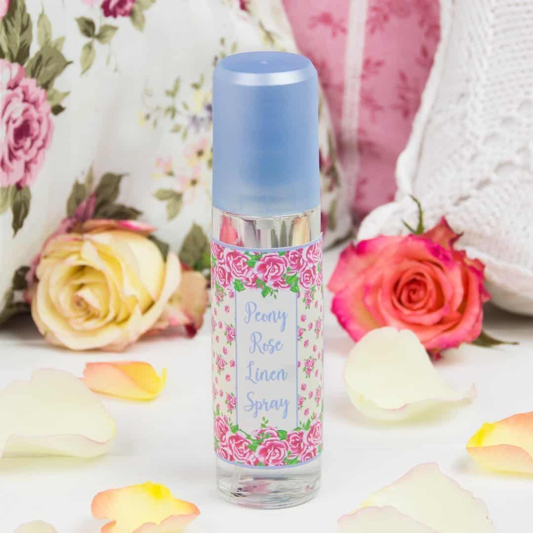 DIY Peony Rose Linen Spray