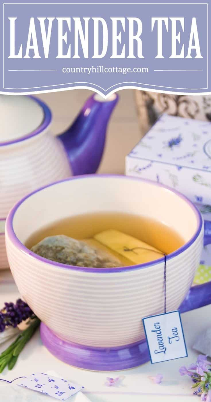 Learn how to make tea bags from coffee filters and fill them with aromatic lavender tea. DIY tea bags are an excellent and easy make-ahead gift idea for all seasons, and this technique works with any type of loose tea or herbs. #DIY #lavender #tea | countryhillcottage.com