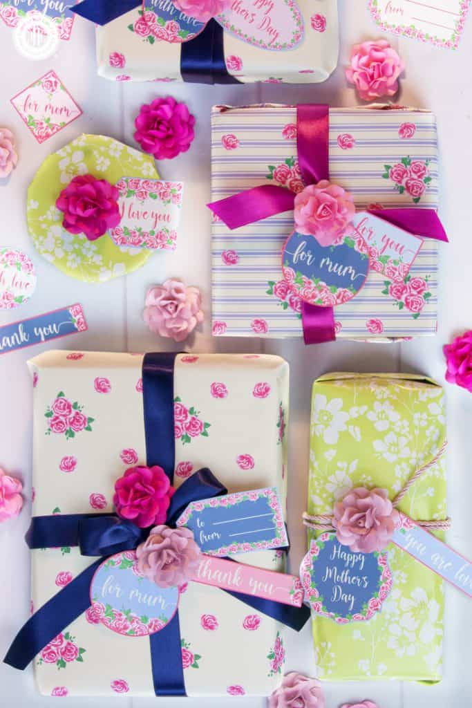 Beautiful presents with free gift tags