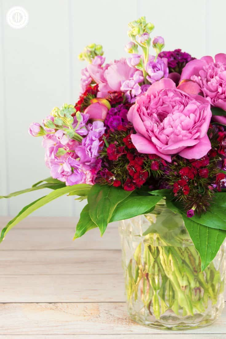 Fragrant Peony Bouquet With Stock And Sweet Williams Country Hill