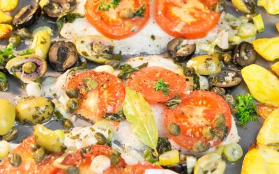 Baked Dover Sole and Veggies Sheet Pan