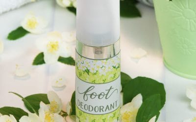 DIY Foot Deodorant with Essential Oils