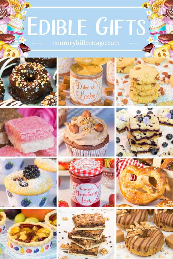 Homemade edible gifts are always a welcome present. Whether the occasion is a birthday, Mother's Day, or simply to say thank you – you can never go wrong with handmade food giftables. We've made it easy for you to amp up your food gifting game with over 50 sweet and delicious food gift ideas. Each recipe comes with ideas for variations so you can customize the ingredients to your family or friends favorite flavours. #ediblegifts #foodgifts #homemmade #giftgiving | countryhillcottage.com