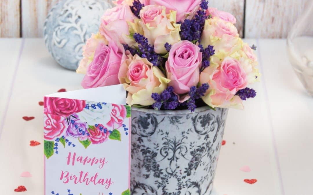 Rose Lavender Bouquet   Flower Gift Arrangement