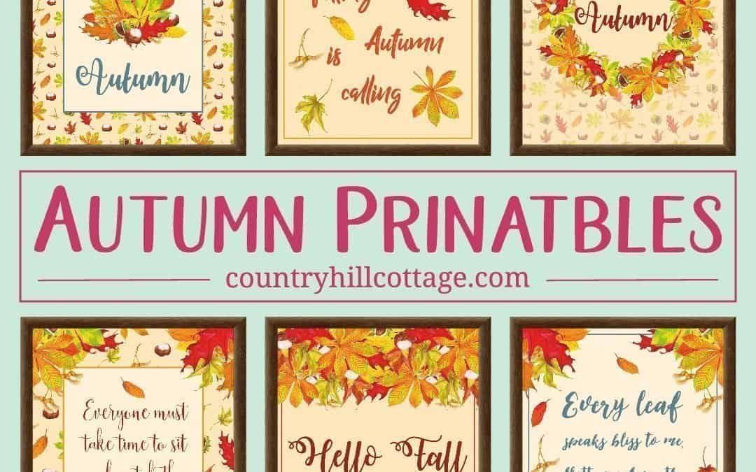 6 Free Autumn Printables